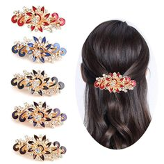 Womens French Style Mother of Pearl Mosaic Print Large Size Acrylic Hair Claws H