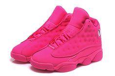 New Jordan Shoes 10   Womens Air Jordan 13 / Womens Air Jordan 13 Retro GS All Pink Girls ...