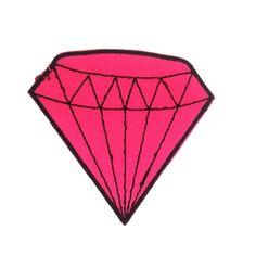 Patch Diamante Rosa - Ôbiju Acessórios criativos