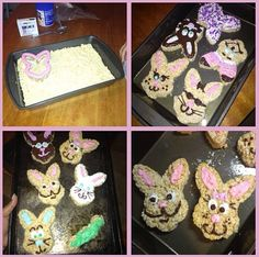Easter bunny rice krispie treats!