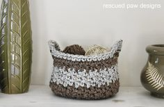 Chunky Crochet Basket Pattern by Rescued Paw Designs