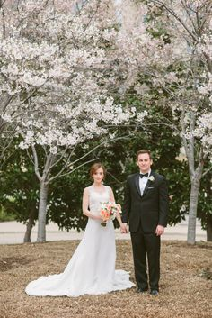 First looks from Emily + Cody = Spring Wedding at Arlington Hall at LeePark.  Photo by Apryl Ann Photography.  Bouquet from Cocktails and Caviar.  #springwedding #happybride