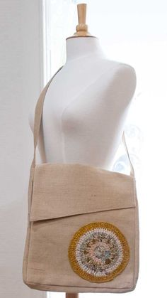 Jute Messenger Bag