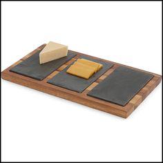 WoodardandCharles.com - Acacia Triple Slate Cheese Board, 14-Inch, $34.99 (http://www.woodardandcharles.com/acacia-triple-slate-cheese-board-14-inch/)