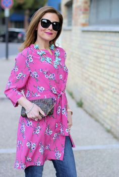 How to wear a dress over jeans with Metisu dress and Valentino Rockstud pumps