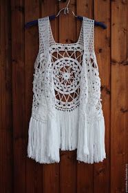 Fringe vest Boho vest Hippie vest Beach cove up Knitted vest Crochet vest Boho chic Country-style vest Knit vest Festival clothing Vest Boho – knitting vest – Knitting for Beginners Gilet Crochet, Bag Crochet, Crochet Crop Top, Crochet Woman, Crochet Cardigan, Love Crochet, Crochet Crafts, Crochet Clothes, Crochet Projects