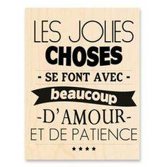 Tampon Bois - Prisca Jockovic - Les Jolies Choses - 6 x 8 cm