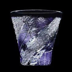 江戸切子 Glass Design, Design Art, Glass Artwork, Crystal Vase, Modern Traditional, Hobbies And Crafts, Cut Glass, Colored Glass, Sculpture Art