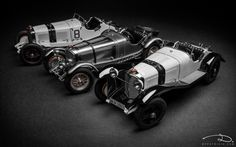 Mercedes-Benz SSKL / SSK (digital prototype), 1931 - models made by CMC in 1:18th scale.