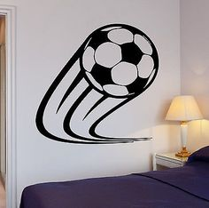 Wall Decal Soccer Kick Football Ball Sport Decor For Living Room (z2719)