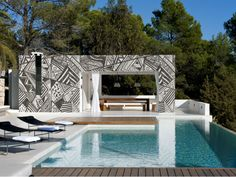 Why should interiors get all the fun? Wall&Decò's Outdoor Unconventional Texture (OUT) wall coverings can coat exterior building surfaces, including cement, wood, and tile. The waterproof, fire-retardant wallpapers are made of a fiberglass fabric, and feature designs created by company founder and fashion photographer Christian Benini. Available through imoderni.com.