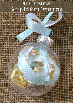 12 Days of DIY Christmas Ornaments: Scrap Ribbon Ornament Craft Idea