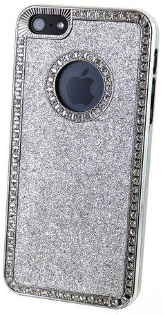 Silver Sparkle & Diamond iPhone 5 Case