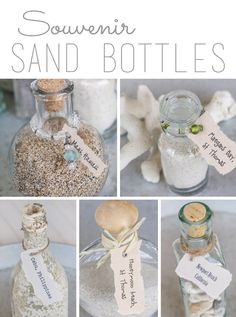 Beach Vacation Sand Bottles | Over the Big Moon