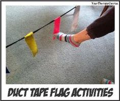 Duct Tape Flag Activities-such a good and simple idea. The kids would love to help make these too!