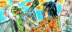 Akira Kurosawa painted storyboard for Ran (1980) #AkiraKurosawa #Storyboard