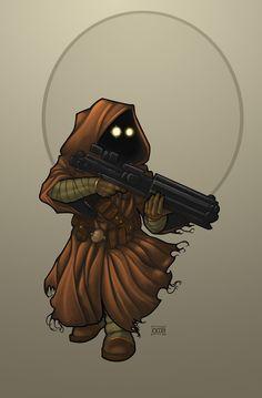 Intini 'The Butcher': Jawa Mercenary by Dunlaoch. #StarWars #Art #gosstudio .★ We recommend Gift Shop: http://www.zazzle.com/vintagestylestudio