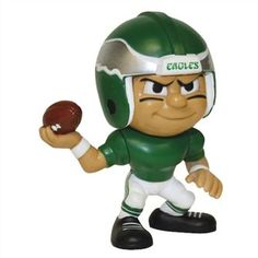 """Need one of these for my desk. """"Philadelphia Eagles Lil'Teammates Quarterback in Throwback Uniform 