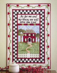 Wall quilt, in: Inspirational Applique by Cheryl Almgren Taylor