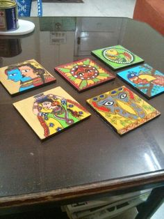 Madhubani coasters. :-) which is your favourite?