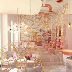 If this isn't the pinnacle of pampering, I don't know what is. #nailsalon #mindblown #inspired #sochic #dubai @calicowallpaper @vosarchitects @tomdixonstudio #blush #mauve #pink #gold #marbled #marbling #inspo #instacrush