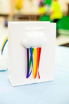Rainbow Birthday Party via Kara's Party Ideas Rainbow Parties, Rainbow Birthday Party, Rainbow Theme, 4th Birthday Parties, Birthday Fun, Rainbow Bag, Rainbow Cloud, Rainbow Unicorn, Birthday Ideas
