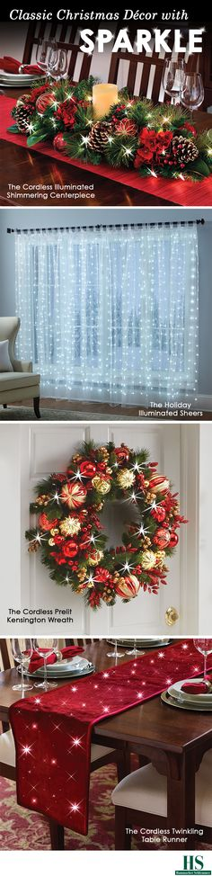 Shop classic Christmas Decor with Sparkle from Hammacher Schlemmer.