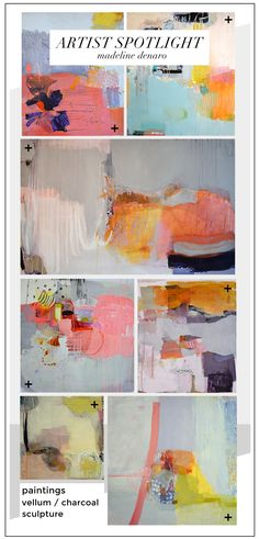 This weekend was great-- spent some QT with the fam and am feeling rejuved and ready to tackle the week ahead. In a recent Pinterest hole, I stumbled upon the amazing artist Madeline Denaro. I've n...