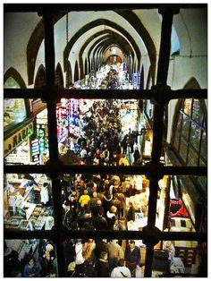 Egyptian Bazaar View from the Window of Pandeli Restaurant - Istanbul