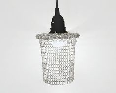 Chainmaille hanging lamp metal hanging lamp  Pendant by MailedIT