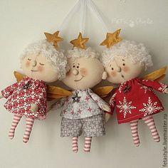 Купить или заказать Ангел Рождественская Звездочка Текстильная Кукла в…