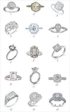 Vintage Diamond Engagement Rings--wow, love 3, and 14 but LOVE 5