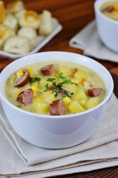 Hearty Kielbasa Potato Soup   www.thekitchenismyplayground.com