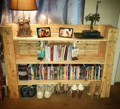 Pallet Shelf (diy) / Pallet Entryway Side Table   99 Pallets