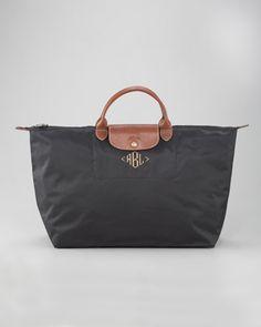 Le Pliage Monogrammed Travel Bag - Neiman Marcus