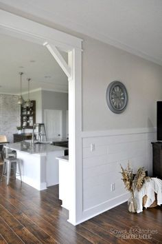 Casing A Doorway And Adding Corbels: Upgrade from builder basic by installing a DIY craftsman door casing with easy DIY corbels.