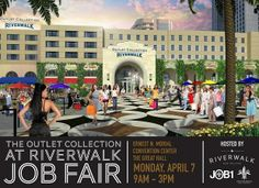 The Outlet Collection at Riverwalk, in partnership with JOB1 in the Mayor's Office of Workforce Development, will host a major job fair in New Orleans on Monday, April 7, from 9am - 3pm at the Ernest N. Morial Convention Center in The Great Hall. Click the image to learn more.