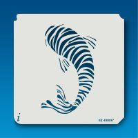 02-00007 Striped Koi Stencil