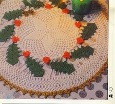 By There Maria: Toalhinha Croche Natalina