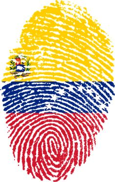 'Venezuela Fingerprint' by Atzerom Colombia Flag, Colombian Art, Colombian Girls, Png Photo, Summer Patterns, South America, Outdoor Blanket, Tatoos, Clip Art