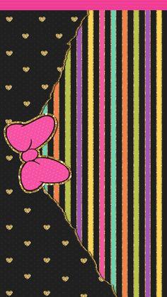 Bow Wallpaper, Iphone 6 Wallpaper, Hello Kitty Wallpaper, Colorful Wallpaper, Disney Wallpaper, Cute Wallpapers, Disneyland, Mickey Mouse, Walls