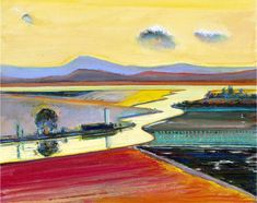"""Wayne Thiebaud's View: """"An artist creates his own world."""" a quote by Wayne Thiebaud. At age 91, this mid century artist still does just that."""