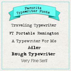 Favorite Journaling Fonts (and more!)   ScrapaneersScrapaneers