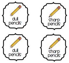 Classroom Supplies: Sharp