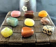 #Tumbled #Stone #Mixed #Set of 9 Small Mineral Stones 77g #Crystal #Healing & More