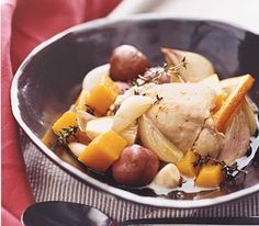 Simple but savory chicken is slow-cooked to perfection.