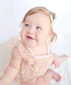 DIY Lace Baby Romper