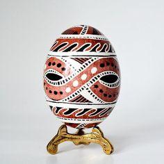 Trypillian Pysanka Ukrainian Easter egg hand painted chicken
