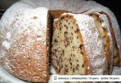 Joghurtos kuglóf csokidarával Hungarian Desserts, Hungarian Recipes, Baking Recipes, Cookie Recipes, Dessert Recipes, Easy Cake Decorating, Decorating Ideas, Creative Cakes, Cakes And More