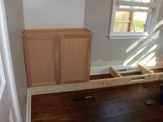 Leave opening in floor boards for hvac | Organized Chaos: Building built -in bookshelves!!